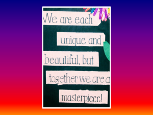 Blog We Are Each Unique