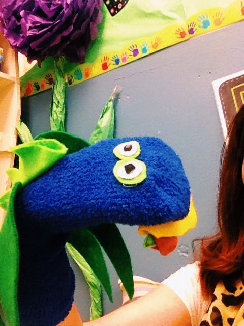 Using puppets to bring a story to life for students with special needs and low attention skills