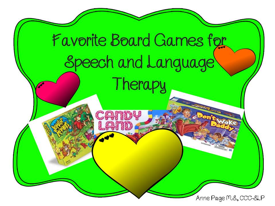 Favorite Board Games for Speech and Language Therapy