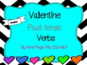 Valentine's Day Past Tense Verbs