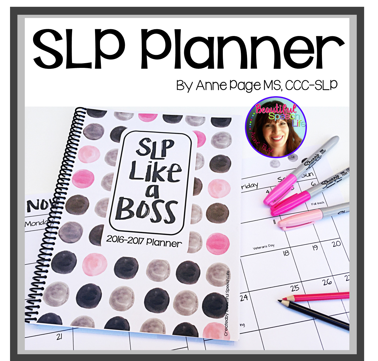 SLP Planner Square Cover