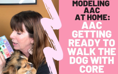 Getting Ready to Walk the Dog | AAC with Core Vocabulary Board